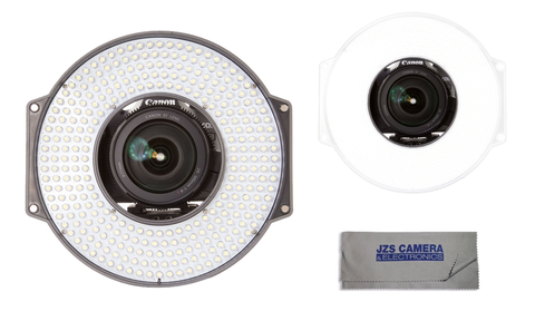 F&V R-300 LED Ring Light Kit with L-Bracket, Milk Diffusion Filter, and Microfiber Cleaning Cloth