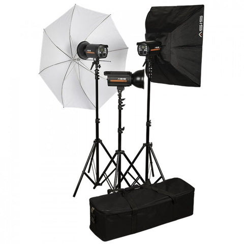 Asis 500 Monolight 3-Head Umbrella/Softbox Kit