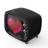 Divoom Tivoo Retro Bluetooth Speaker - Pixel Art DIY Box, RGB Programmable 16X16 LED, Support Android & iOS; TF/SD Card & AUX- Black with Griffin 3FT Aux Cable Kit