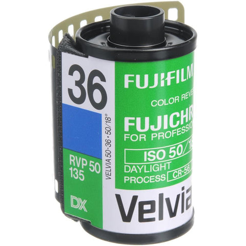 Fujifilm FUJICHROME Velvia 50 Professional RVP 50 Color Transparency Film (36 Exposures) [5 Pack]