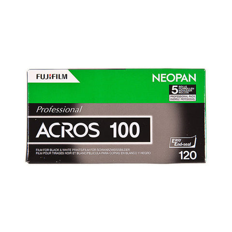 Fujifilm Neopan 100 Acros Black and White Negative Film (120 Exposures) [5 Rolls]