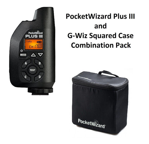 PocketWizard Plus III Transceiver (Black) + G-Wiz Squared Gear Case (Black)