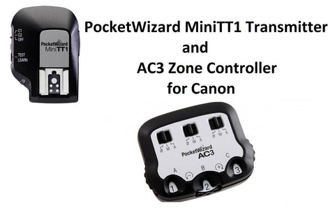 PocketWizard MiniTT1 Radio Transmitter for Canon + AC3 Zone Controller for Canon