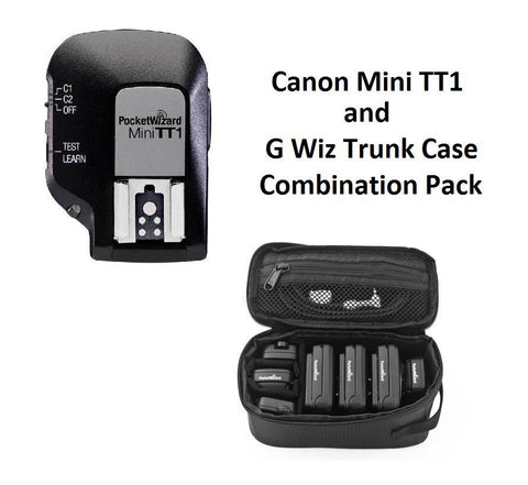 PocketWizard MiniTT1 Radio Transmitter for Canon + G-Wiz Trunk Case (Black)