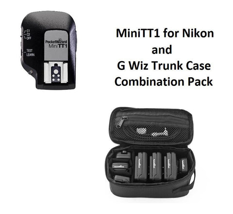 PocketWizard MiniTT1 Transmitter for Nikon + G-Wiz Trunk Case (Black)