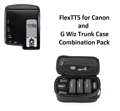 PocketWizard FlexTT5 Transceiver for Canon + G-Wiz Trunk Case (Black)