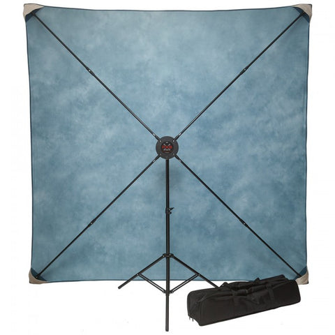 Studio Assets 8' x 8' PXB Pro Portable X-Frame Background System