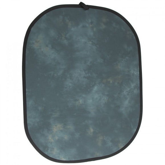 Studio Assets 4 x 5' Collapsible Muslin Background (Heather Gray / Midnight Blue)  ****DISCONTINUED***