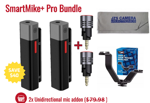 SmartMike+ Twin Package Pro Bundle With VB-3 and Cleaning Cloth