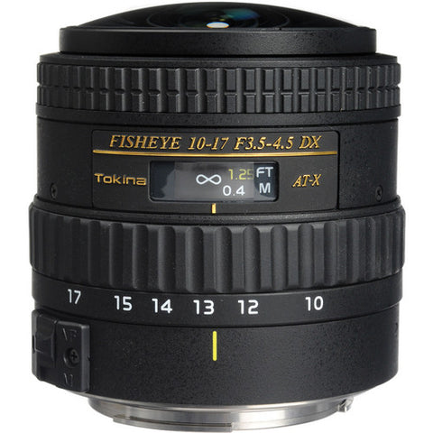 Tokina 10-17mm f3.5-4.5 Fisheye Lens [Two Mount Options]