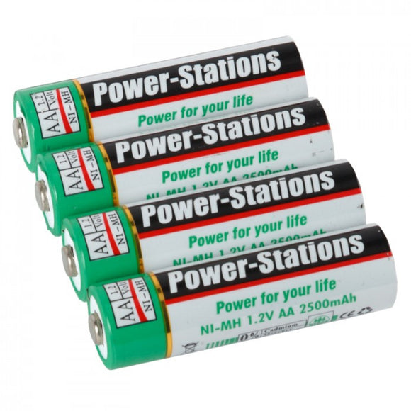 Volta Power Stations Ni-MH 2500mAh Rechargeable AA Batteries (4-pack)
