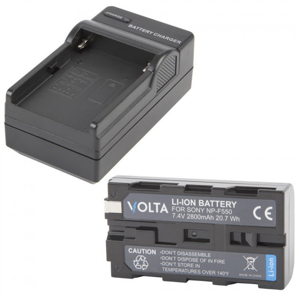 Volta NP-F550 Li-ion Battery and Charger Kit