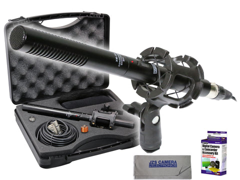 Vidpro XM-55 Shotgun Microphone Kit with Lens Cleaning Set & Microfiber Cloth
