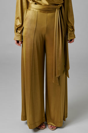 Lamé Wide Leg Trouser