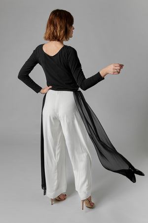 Wide Leg Layered Trousers