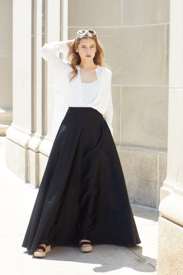 Midnight Moon Maxi Skirt