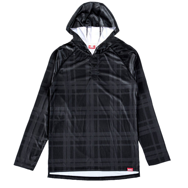 Haskill black plaid baselayer for skiers