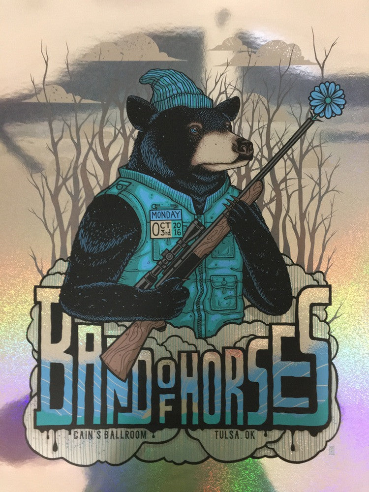 Band of Horses - Cain's Ballroom - 2016 - Sparkle Foil Edition by Jim Mazza