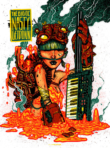 Big Ol' Nasty Getdown - Munk One - Creatures of Habit Limited Edition Print