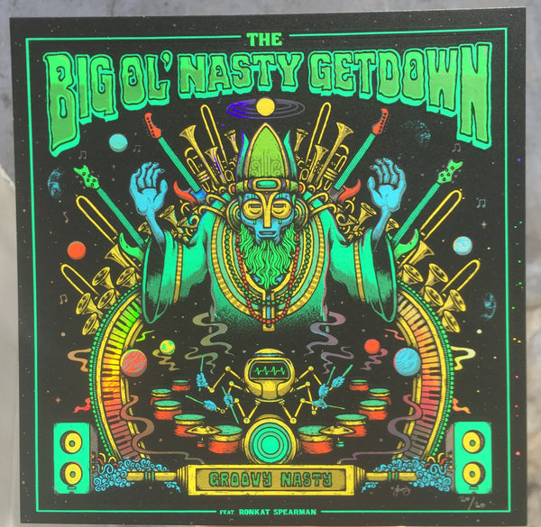 "The Big Ol' Nasty Getdown ""Groovy Nasty"" Print Set by Matt Leunig  -Lava Foil Edition"