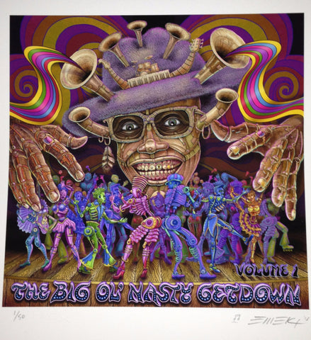 "Emek - ""The Big Ol' Nasty Getdown Volume 1"" Front Cover Print"