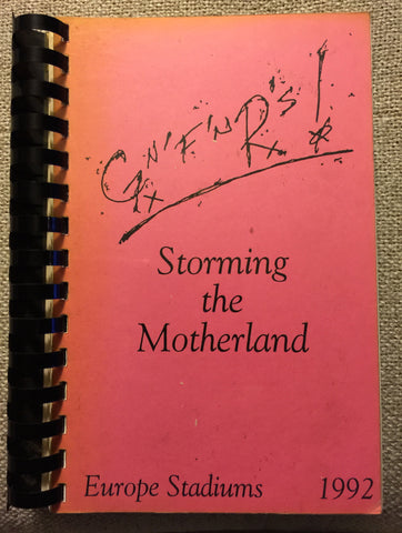 "Guns N' Roses -  ""Storming the Motherland"" 92' Europe Stadiums Tour Itinerary Booklet"