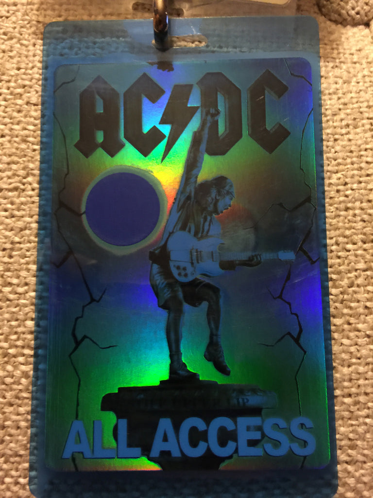 "AC/DC - ""Stiff Upper Lip Tour"" Back Stage Laminate"