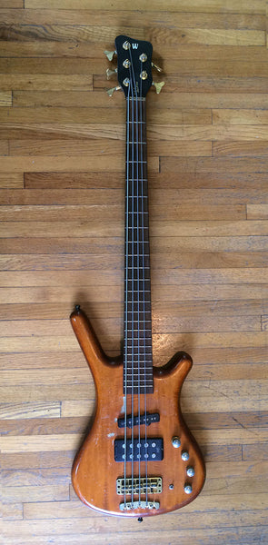 Norwood Fisher Stage Used 1998 Warwick FNA Jazzman 5-string bass.