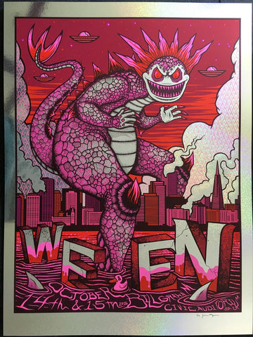 Ween - Bill Graham Civic Auditorium - Oct. 14th & 15th 2016 - Sparkle Foil Variant by Jim Mazza