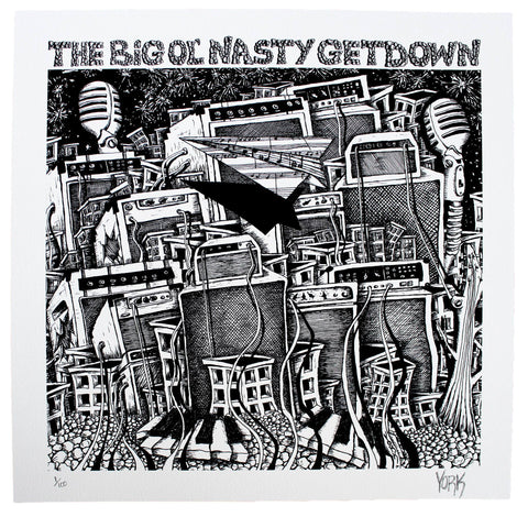 "The Big Ol' Nasty Getdown ""Detroit"" Limited Edition Print by Evan York"