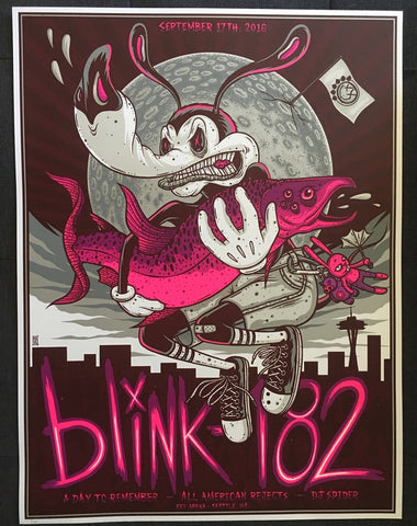 Blink 182 - Key Arena - 2016 - Artist Variant Edition by Jim Mazza