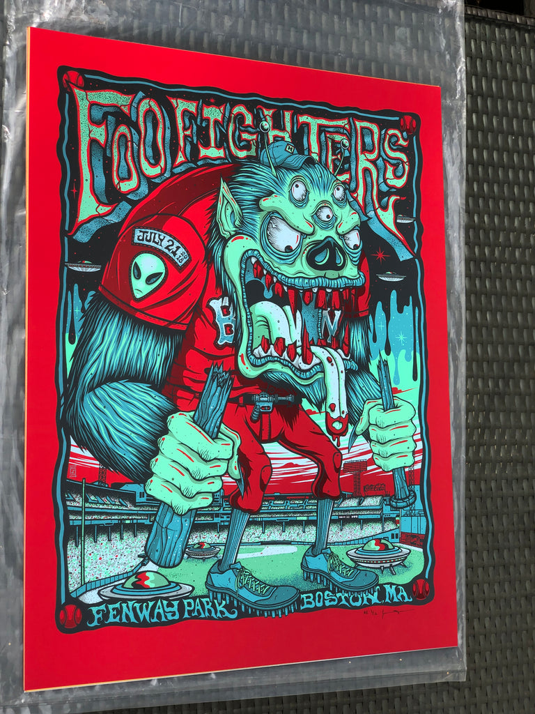 Foo Fighters - Fenway Park - Jim Mazza Print - Cosmic Red Variant #1/12