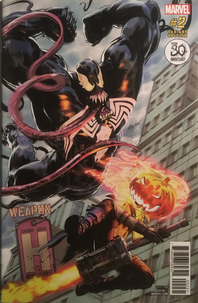 WEAPON H # 2 VENOM 30TH ANNIVERSARY VARIANT COVER