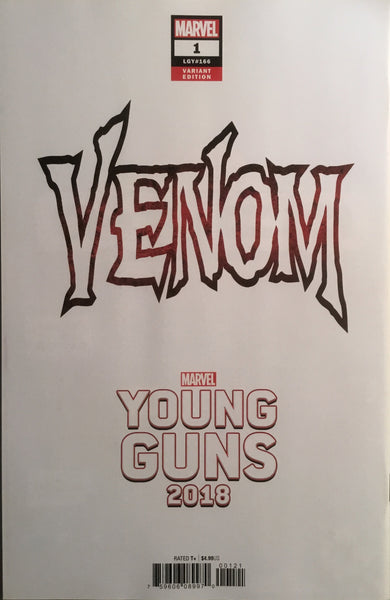 VENOM (2018) # 1 KUDER YOUNG GUNS VARIANT COVER FIRST PRINTING