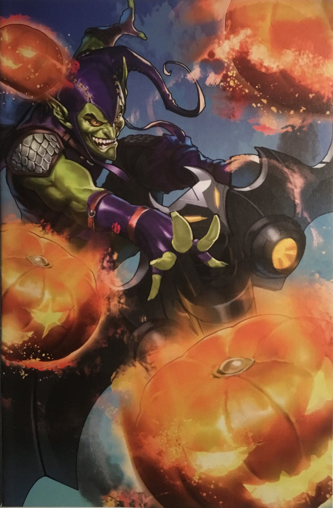 SPIDER-GWEN GHOST SPIDER # 8 GREEN GOBLIN BATTLE LINES VARIANT COVER