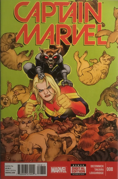 CAPTAIN MARVEL (2014-2015) # 8 FIRST FULL FLERKEN APPEARANCE