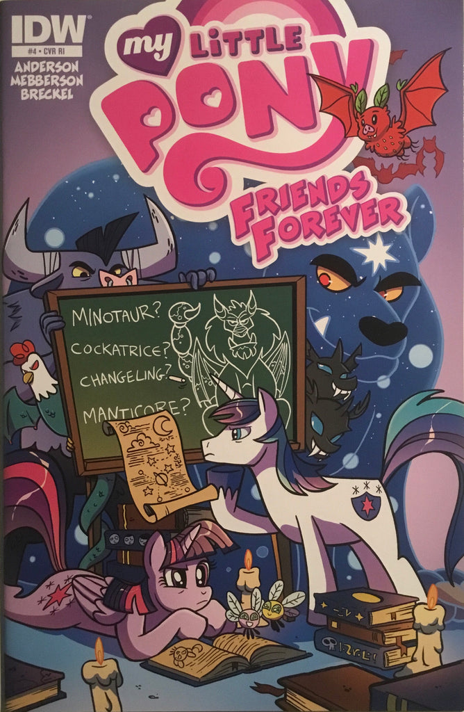 MY LITTLE PONY FRIENDS FOREVER # 4 RETAILER INCENTIVE 1:10 VARIANT COVER
