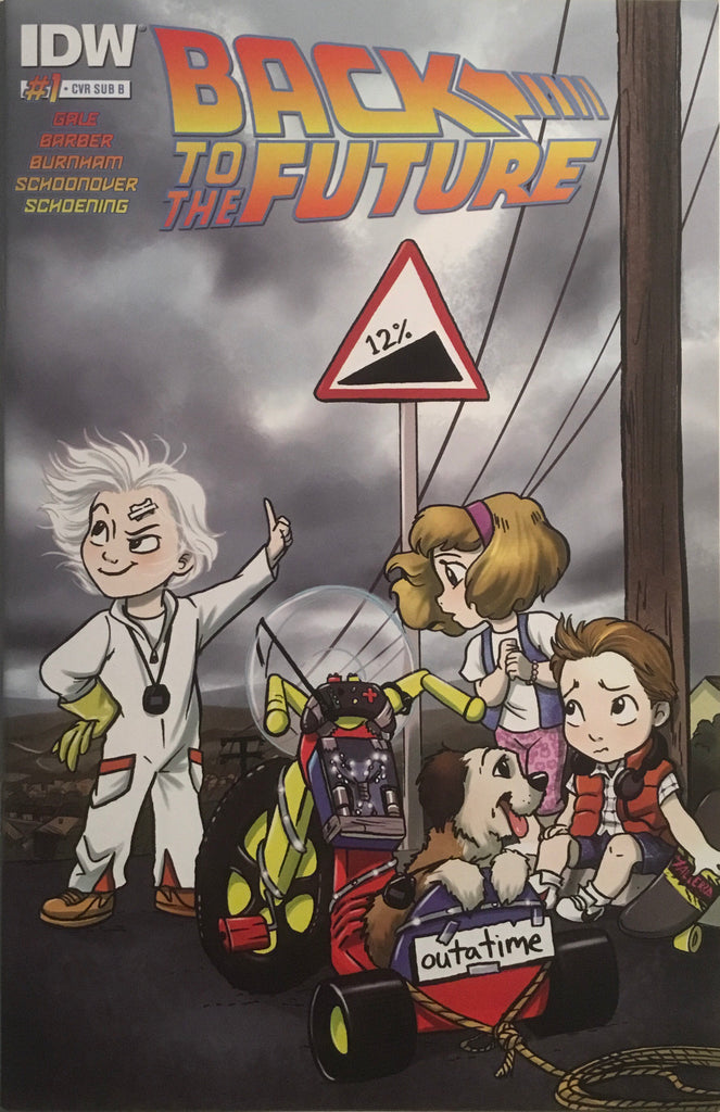 BACK TO THE FUTURE # 1 VARIANT SUB COVER FIRST PRINTING