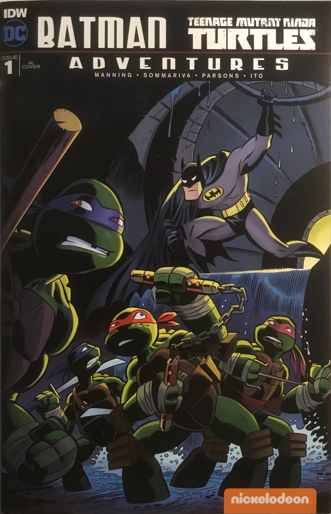 BATMAN / TMNT TEENAGE MUTANT NINJA TURTLES ADVENTURES # 1 (1:10 VARIANT COVER)