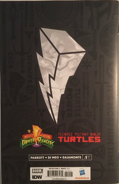 MIGHTY MORPHIN POWER RANGERS / TMNT # 1 RETAILER VARIANT COVER