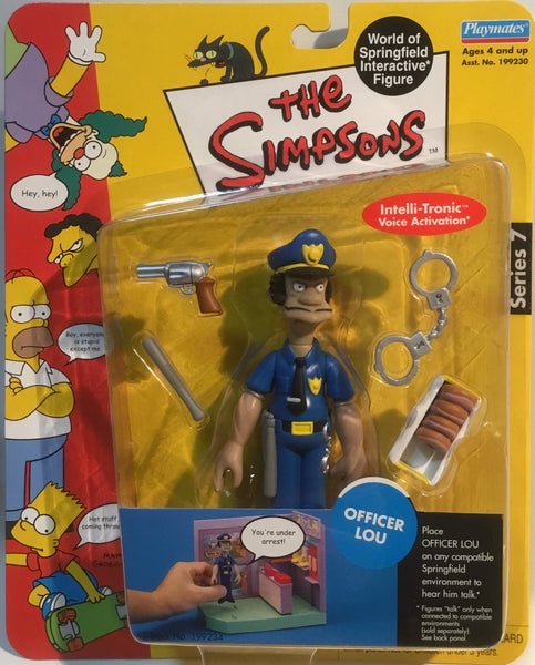 SIMPSONS WORLD OF SPRINGFIELD OFFICER LOU INTERACTIVE FIGURE