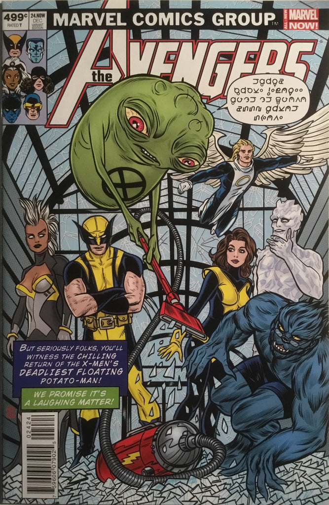 AVENGERS (2013-2015) # 24 ALLRED X-MEN HOMAGE VARIANT COVER
