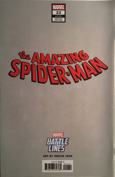 AMAZING SPIDER-MAN (2018-) #22 BATTLE LINES VARIANT COVER