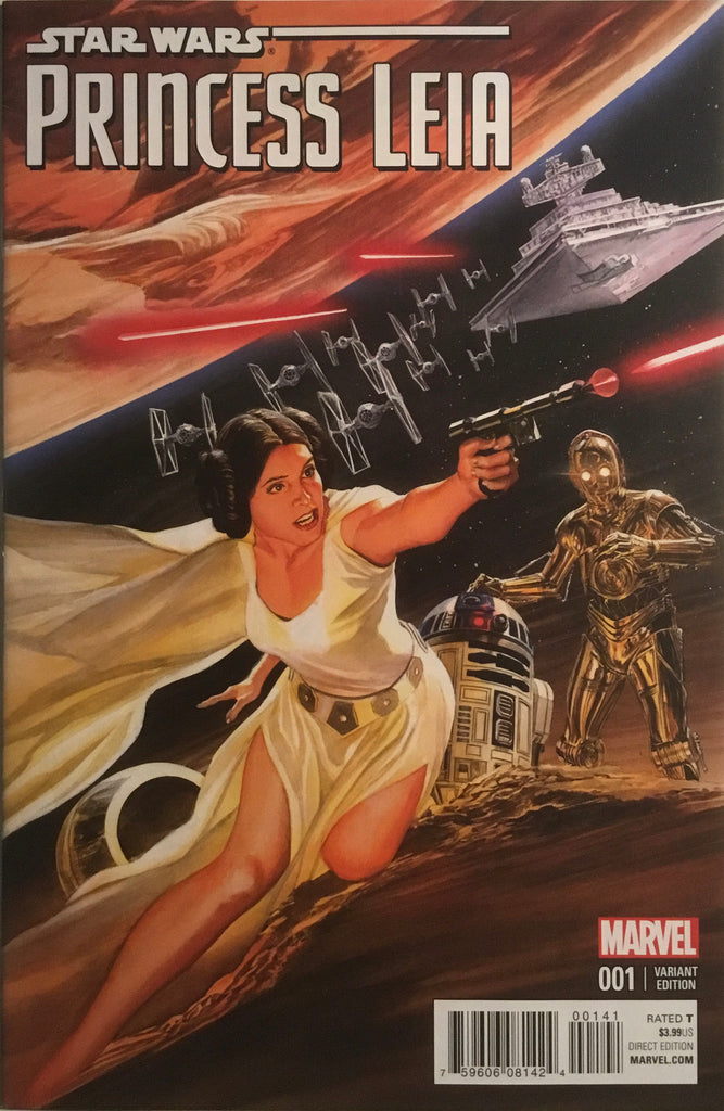 STAR WARS PRINCESS LEIA # 1 ROSS 1:50 VARIANT COVER