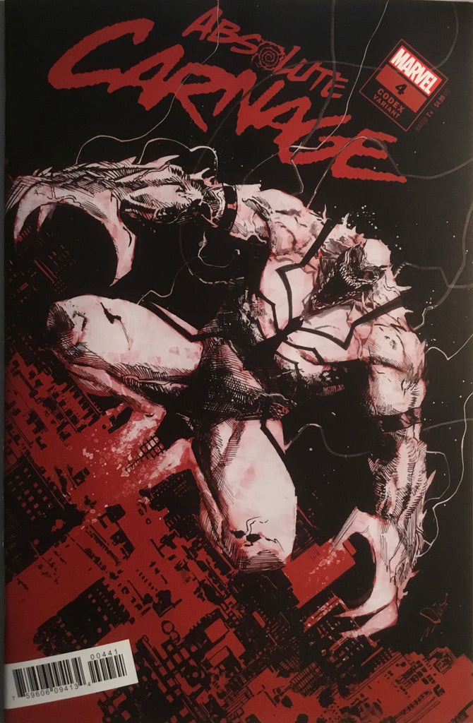 ABSOLUTE CARNAGE # 4 ZAFFINO CODEX 1:25 VARIANT COVER
