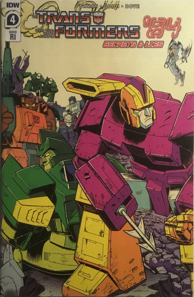 TRANSFORMERS '84 SECRETS & LIES #4 ROCHE 1:10 VARIANT COVER