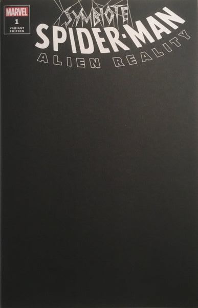 SYMBIOTE SPIDER-MAN ALIEN REALITY # 1 BLACK BLANK COVER