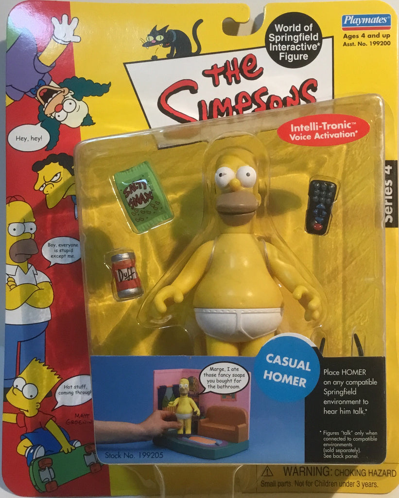 SIMPSONS WORLD OF SPRINGFIELD CASUAL HOMER INTERACTIVE FIGURE