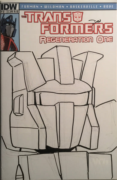 TRANSFORMERS REGENERATION ONE #81 HAND-DRAWN ORIGINAL SKETCH 1:50 RETAILER VARIANT COVER