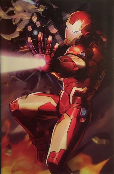 TONY STARK IRON MAN #12 BATTLE LINES VARIANT COVER